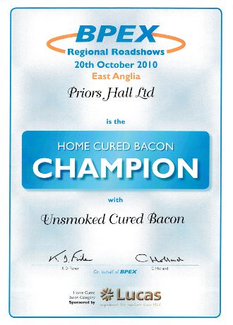 BPEX Home Cured Bacon Champion 2010