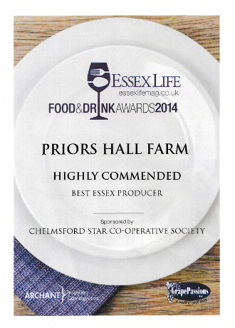 Highly Commended Best Essex Producer 2014