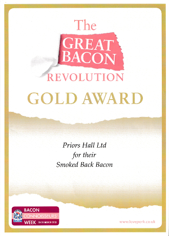 The Great Bacon Revolution Gold Award for Smoked Back Bacon 2013